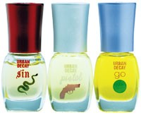 Urban Decay's trio of perfume oils.
