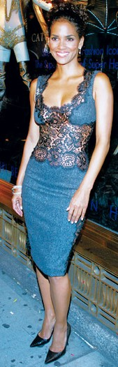 Halle Berry in Dolce & Gabbana at Bendel's on July 21.