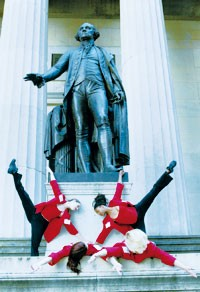 Members of The Heather Harrington Dance Co. at Federal Hall.