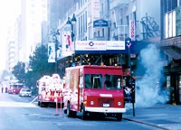 An underground electrical fire led to the closing of a block-long stretch of West 34th Street on Monday morning.