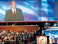 Former Vice President Al Gore addresses the convention.