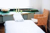 A treatment room in Dr. Volker Steinkraus' Skin Biology Center.