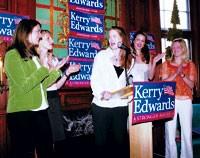 Kate Edwards, Vanessa Kerry, Kristin Gore, Alex Kerry and Karenna Gore Schiff.