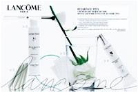 Lancôme's Resurface Peel ad.