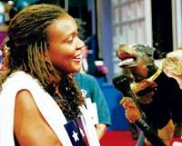 Triumph the Insult Comic Dog with Florida delegate Dana Roberts.