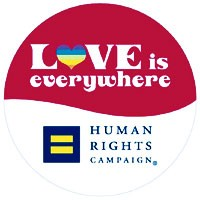 """The Human Rights Campaign's """"Love is Everywhere"""" logo."""