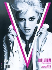 Gwen Stefani on the cover of V.