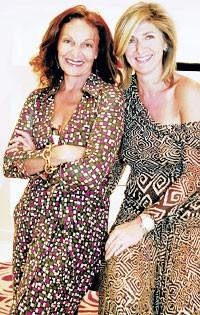 Diane von Furstenberg and Catherine Madar