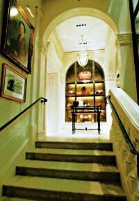 The palazzo's grand staircase.