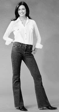 A look from Gloria Vanderbilt.