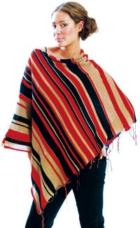Ponchos, like this one by Kate O'Connor, are bestsellers in stores across the country.