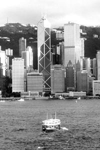 The port of Hong Kong.