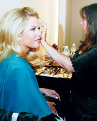 Fox anchor Martha MacCallum in hair and makeup.