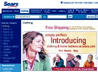 Sears has launched apparel online and soft home products are on sears.com for the first time, as well.