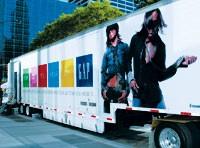 The Gap truck.