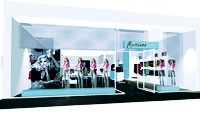 A computer-generated image of the Marciano store.