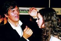Paul Starr, Estée Lauder's national makeup artist, at Sass & Bide.