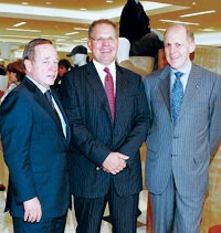 Fred Wilson; William Taubman, executive vice president of Taubman Centers, and Andrew Jennings.