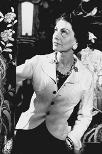 A vintage photo of Coco Chanel.
