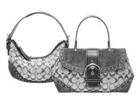 Two handbags from Coach, which is enjoying continued sales momentum.