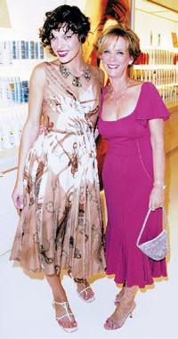 Milla Jovovich and Carol Hamilton