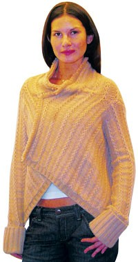 A knit wrap from Inhabit.
