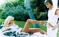 Paris Hilton poses in this sophisticated image for Guess by Marciano.