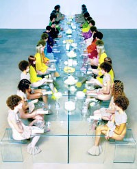 A Vanessa Beecroft photograph from the Facchini family holdings.