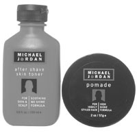 Items from Michael Jordan's hair and shave line.