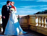 Newlyweds at Keswick Hall.