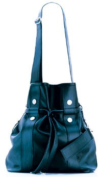 """A redesigned """"bucket"""" bag by Xavier Delcour."""