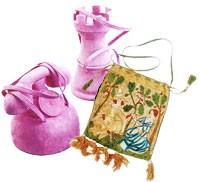 "Purses and handbags from ""Le Cas du Sac."""