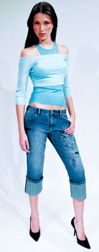 Stretch cuffed jeans from the Choice Calvin Klein collection.