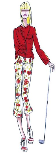 A spring look from Lizgolf by Liz Claiborne.