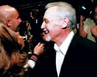 Dennis Hopper backstage at Missoni.