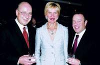 Cosmopolitan's Don Loftus, Federated's Thia Breen and Cartier's Joseph Giugliano at Branch Tuesday night.