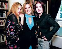 Riley Keough, Lisa Marie Presley and Priscilla Presley.