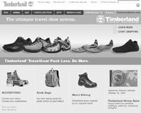 Timberland's Web site