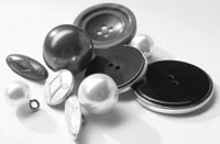 Union Knopf offered a wide assortment of buttons at the Mod'Amont trim show.