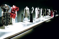 "Inside the FIT exhibit ""Form Follows Fashion."""