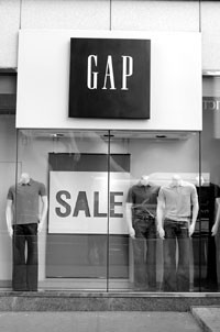 Gap Inc.'s shares advanced despite a comp decline.