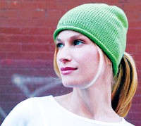 Girl 32's knitted hat.
