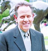 Barry Schwartz at Belmont Park.