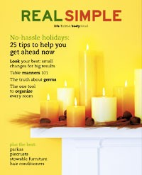 Real Simple's November cover.