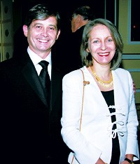 Philip Shearer and his wife, Alix.