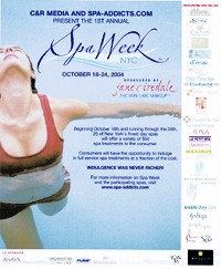 The ad promoting Spa Week.