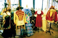"""A few period costumes available at the TDF """"moving sale."""""""