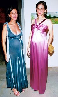 Cynthia Rowley with Eliza Bolen in Oscar de la Renta.