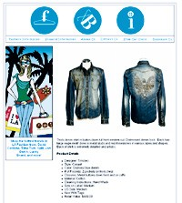 A sample online listing from a Fashion Business Inc. auction.