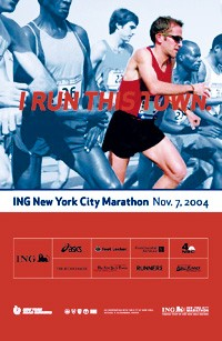 "Above, ""I Run This Town"" is the official campaign from the marathon organizers."